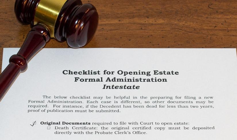 Probate attorney checklist titled